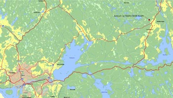 Kart over Aremark BMX